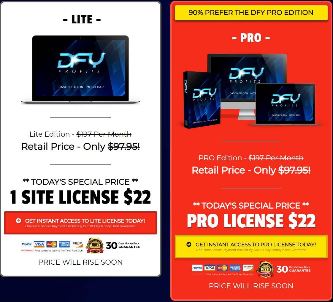DFY Profitz Price