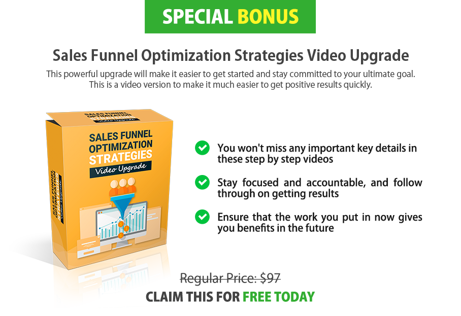 Sales Funnel Optimization Strategies Video Upgrade