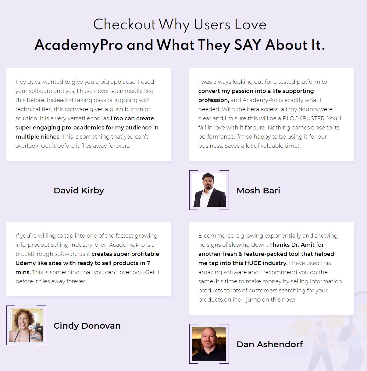 AcademyPro Testimonial